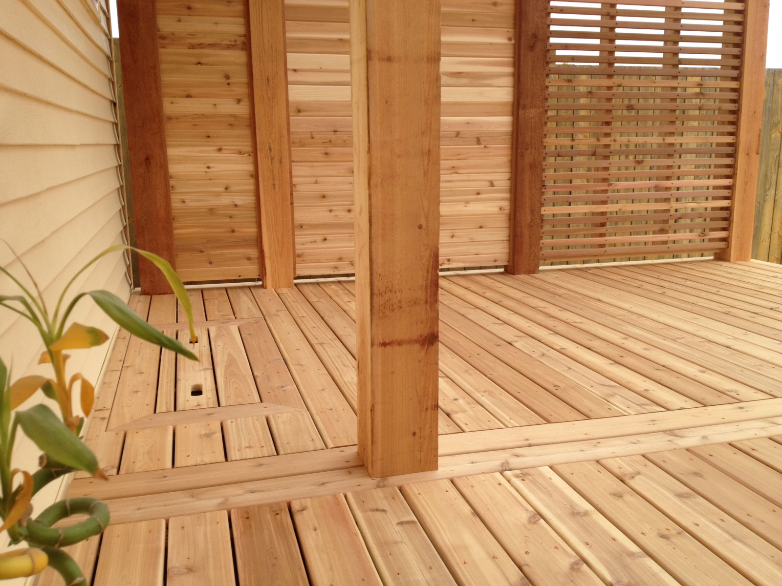 calgary landscaping privacy deck