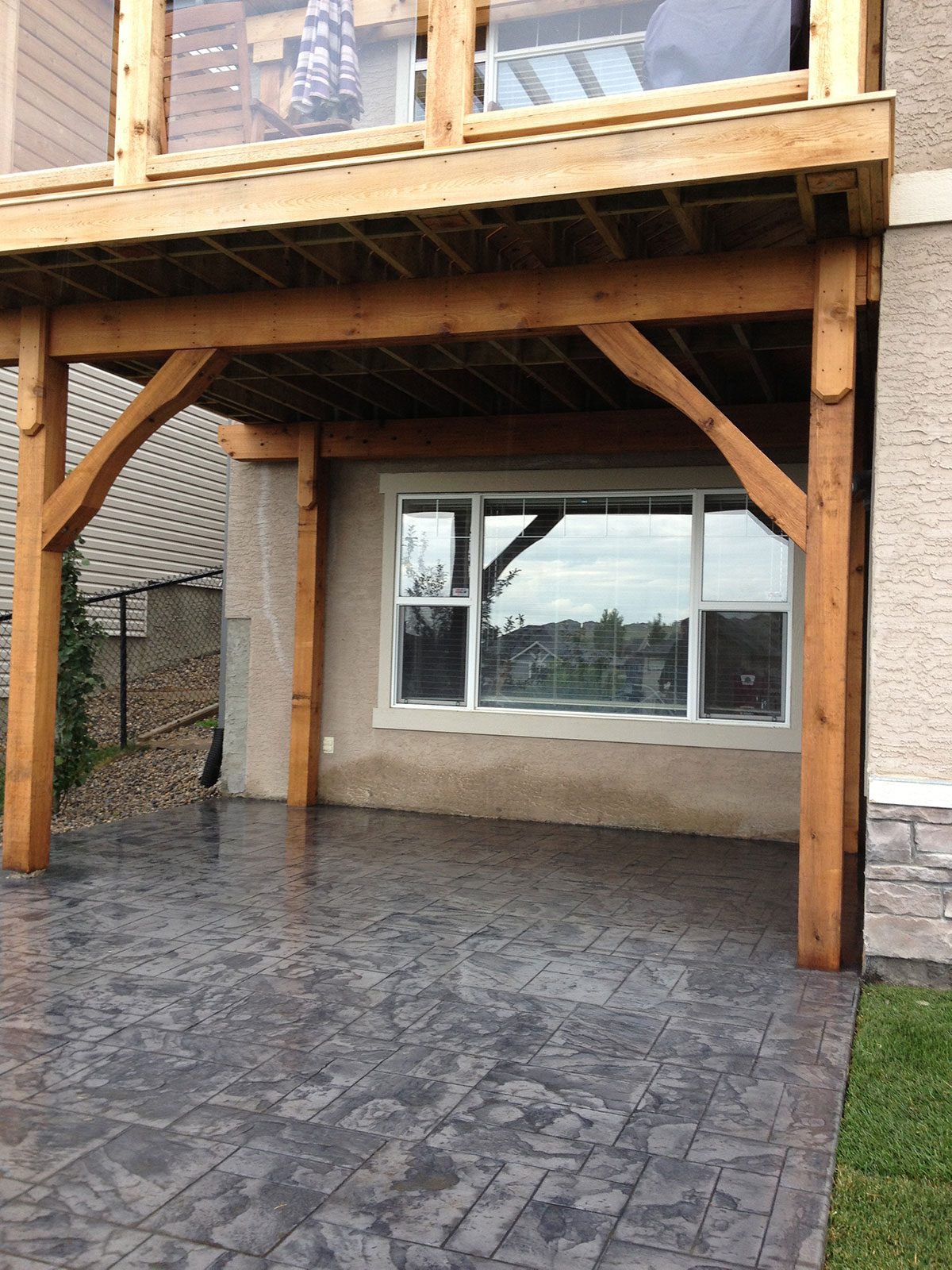 Calgary landscaping stamped concrete