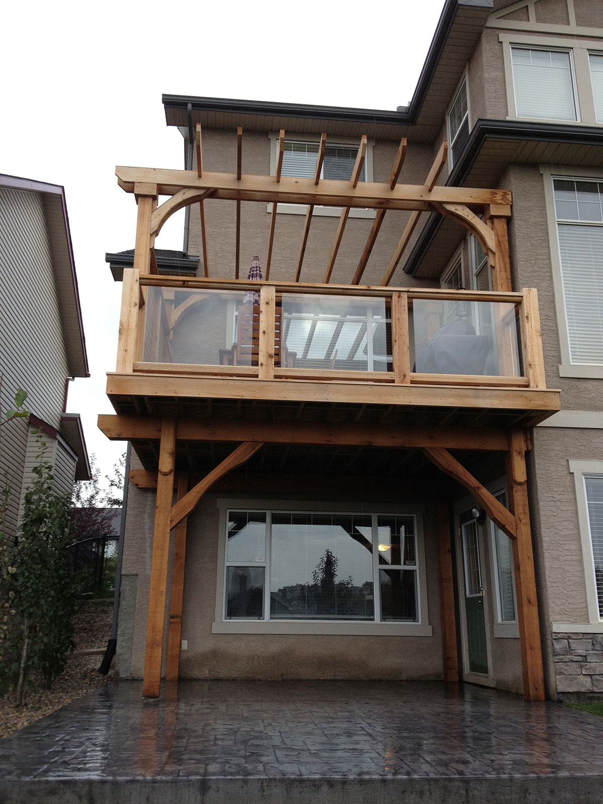 calgary landscaping Deck walk out