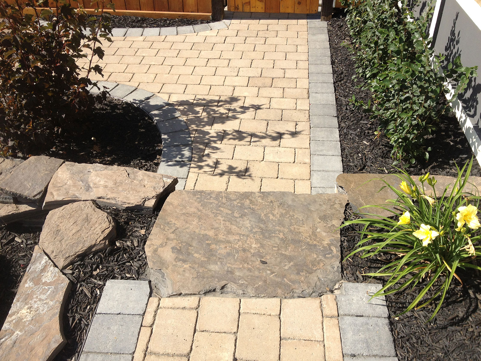 Calgary landscaping stone pathway