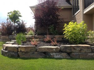 Natural stone retaining wall services