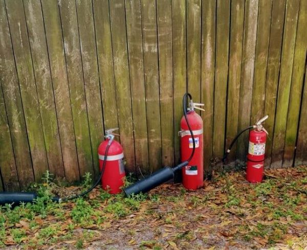 fire extinguishers fire pit safety