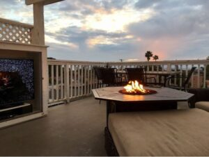 fire pit table installation